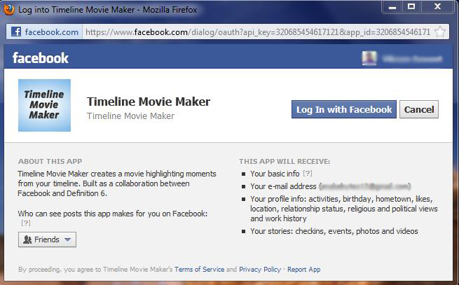 Facebook's Timeline Movie Maker