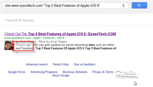 Google Indexed Articles