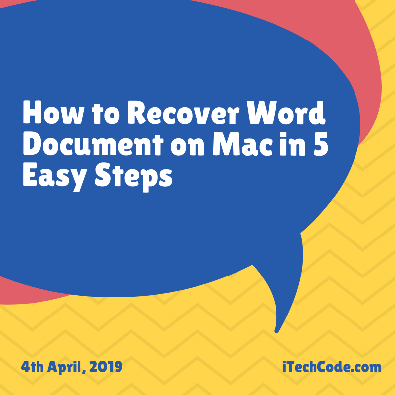 How to Recover Word Document on Mac in 5 Easy Steps